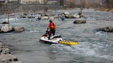 Aquabike in fiume