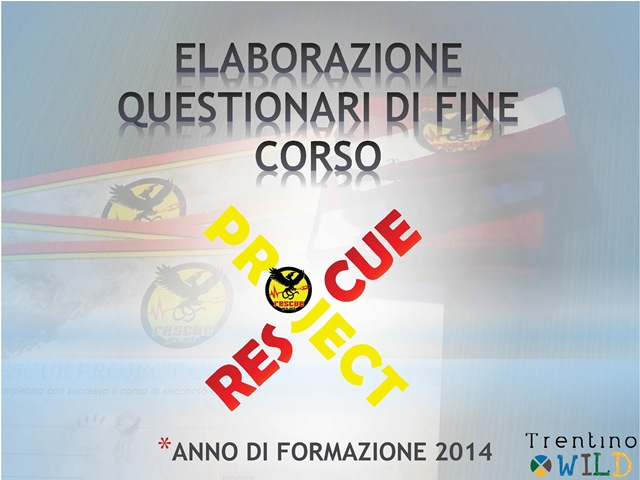 Questionario Rescue Project 2014-i risultati