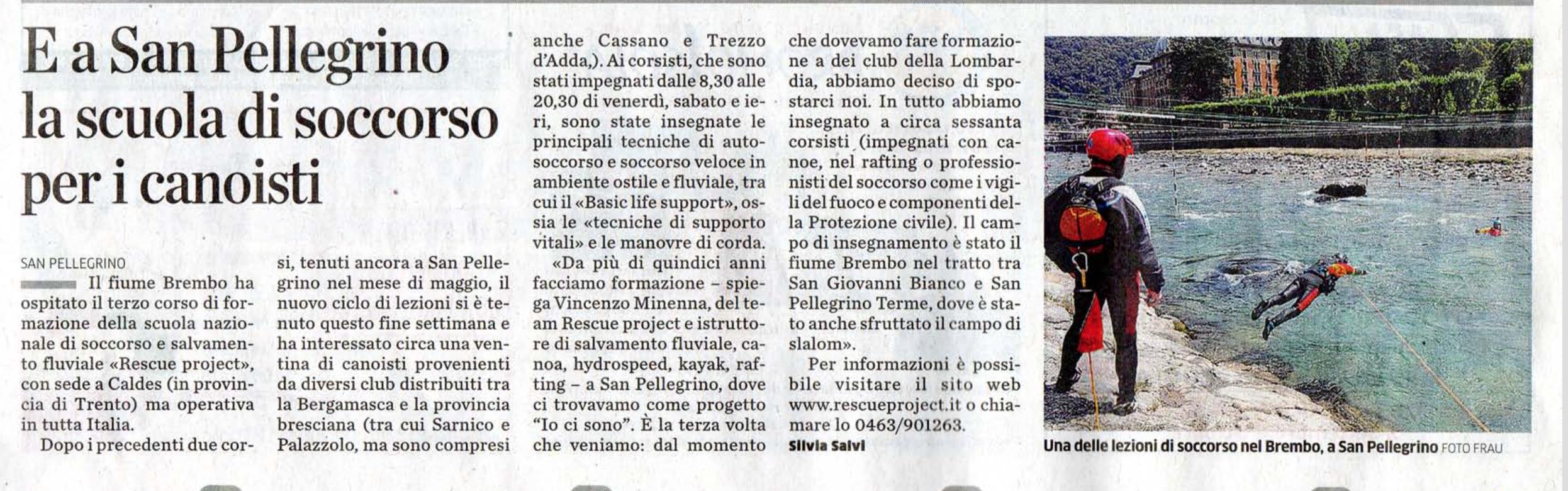 Giornale l'Eco di Bergamo