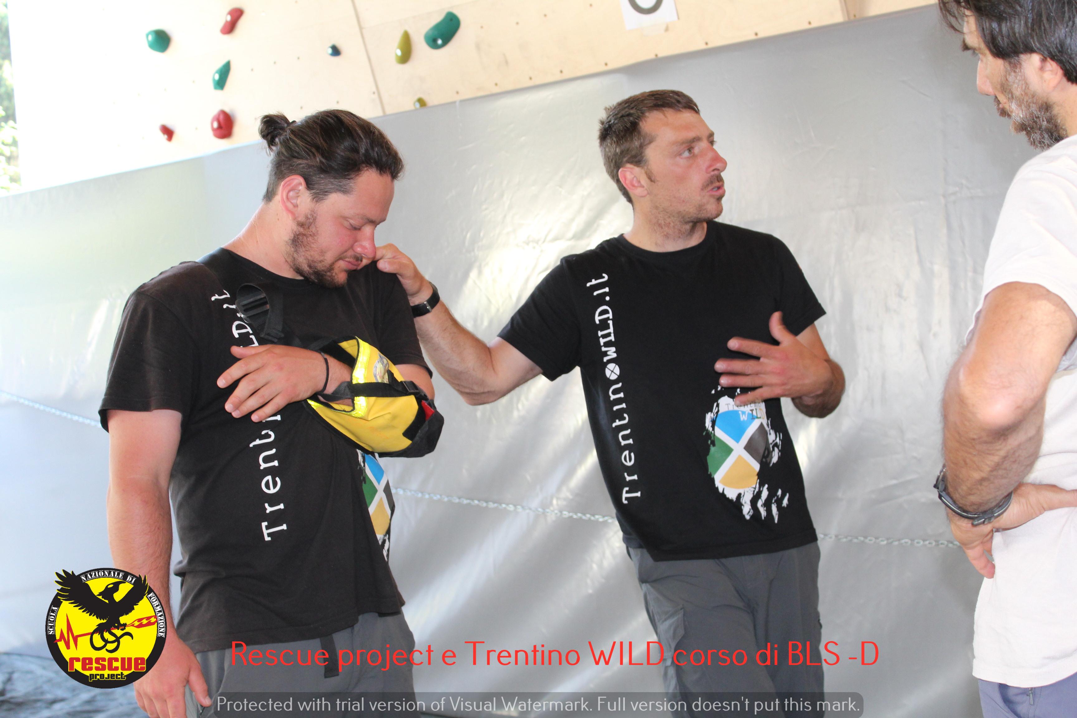 Soccorso fluviale BLS-D con rescue project e TrentinoWILD