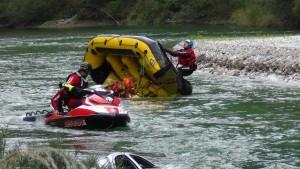 soccorso fluviale con aquabike