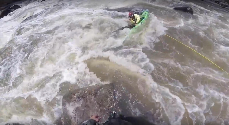 incastro di punta in kayak
